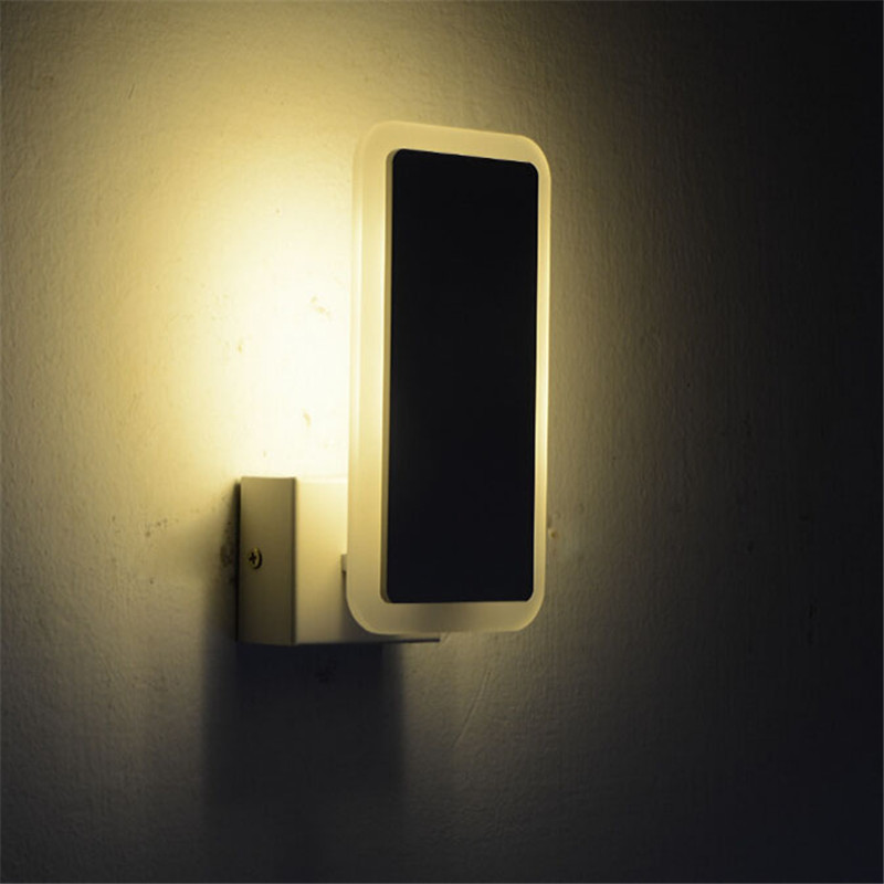 Led 5730smd 6w indoor lighting acrylic wall lamp for Led bedroom wall lights