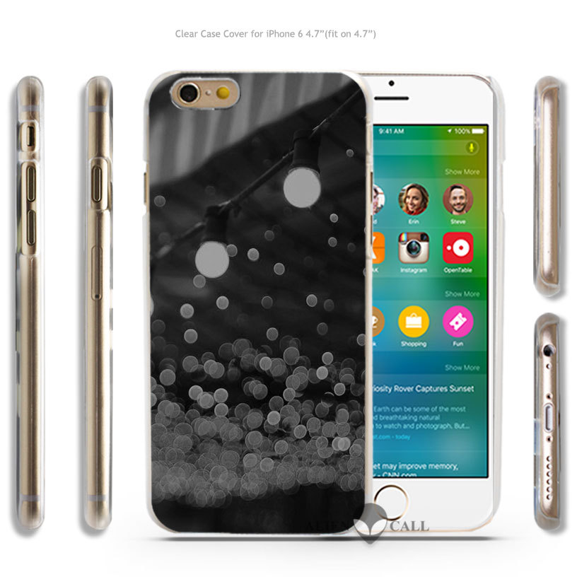 mj19 city light dark bulbs romantic street Hard Transparent Clear Case Cover Coque Shell for iPhone 4 4s 5 5s 5c 6 6 Plus(China (Mainland))