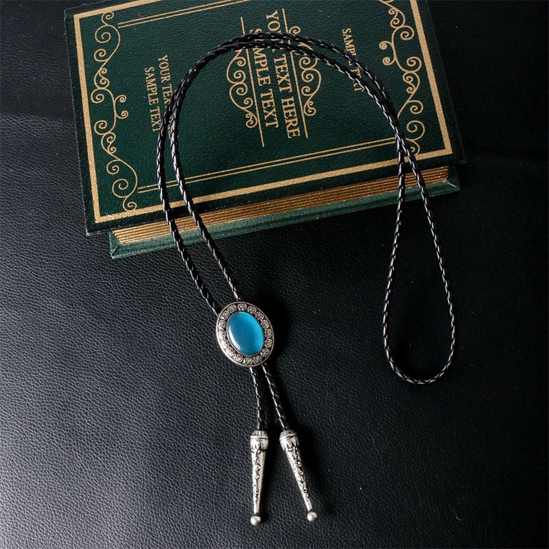 New Fashion Men's Suits Handmade Necktie PU Leather Collar Bolo Tie Shirt Poirot Neck Tie Male Necklace Chain Bowtie Jewelry(China (Mainland))