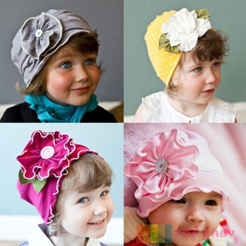 2016 New Arrival 3D flower baby hat Baby Girl Infant Toddler spring Beanie caps newborn photography props 3M-3T Free Shipping(China (Mainland))