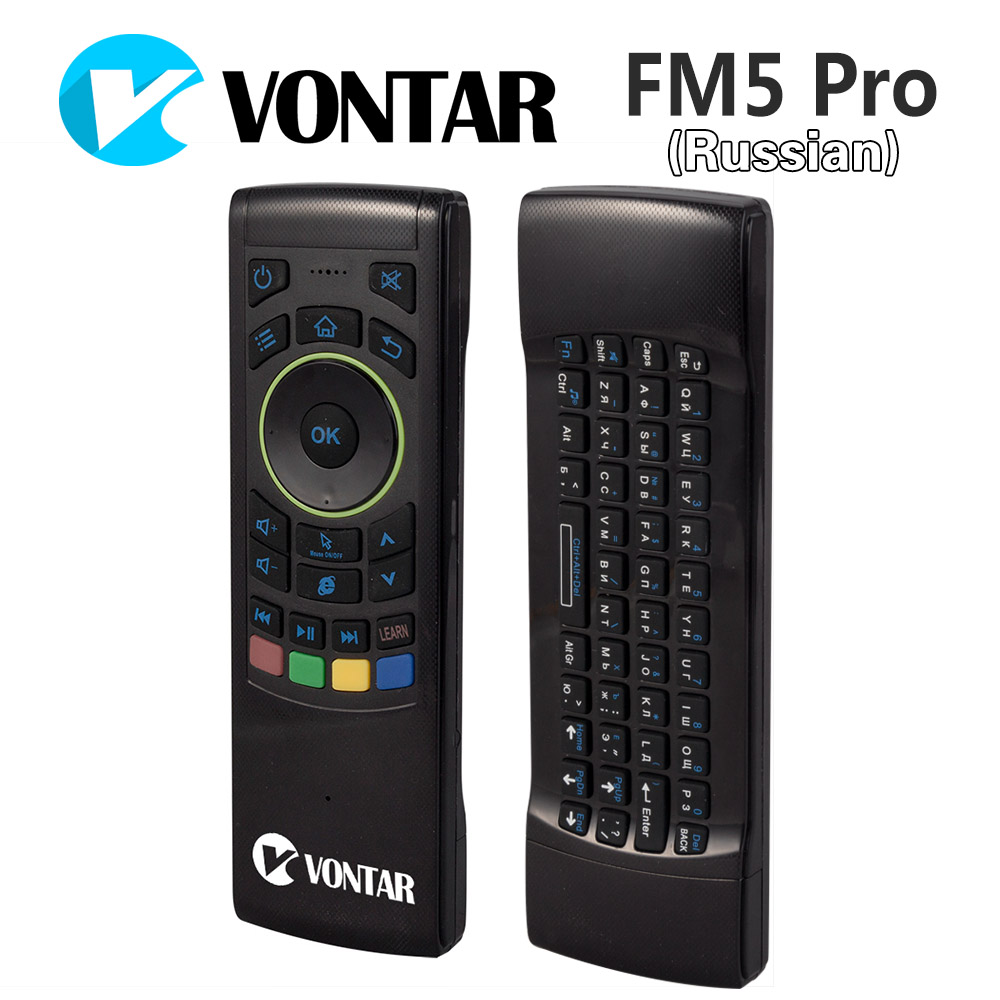 [Genuine] VONTAR Russian i25 Fly Air Mouse 2.4GHz Wireless Keyboard IR Remote Motion sensing game Combo FM5 Pro Android Box PC(China (Mainland))