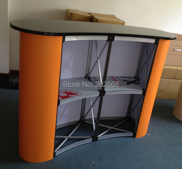 Portable Folding Aluminum Pop Up Counter,Advertising Pop Up Promotion Table+Free Printing(China (Mainland))