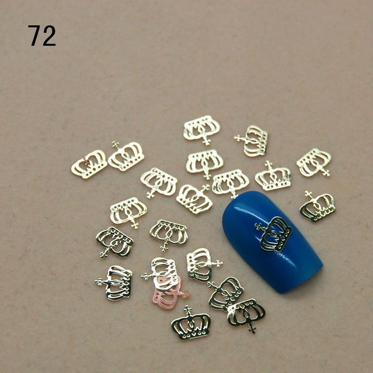 T72 800pcs/lot New Slice Lovely golden Prince Crown Nail Art Tips DIY Phone Beauty Craft Design Decoration UV nail Gel(China (Mainland))