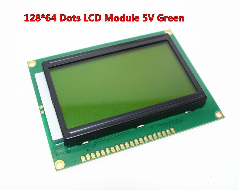 Free shipping 12864 128x64 Dots Graphic Green Color Backlight LCD Display Module for arduino raspberry pi(China (Mainland))