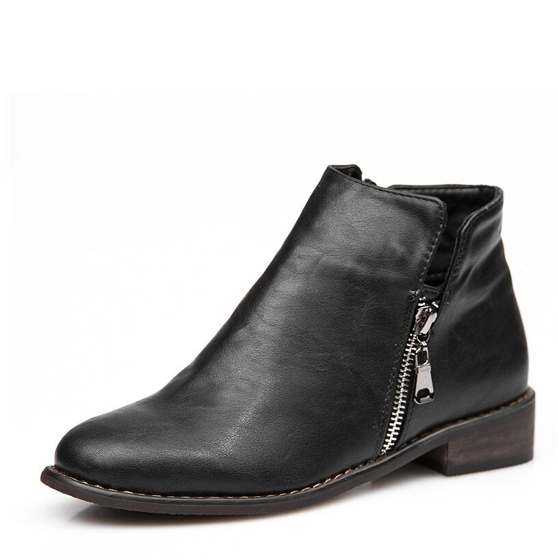 2014 fall fashion black brown suede genuine leather autumn