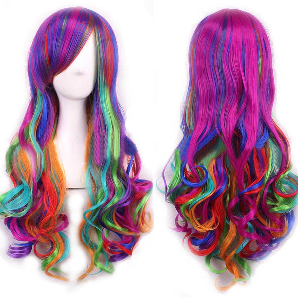 Fashion Womens Long Multi-Color Beautiful Lolita Synthetic Cosplay Wigs HB88<br><br>Aliexpress