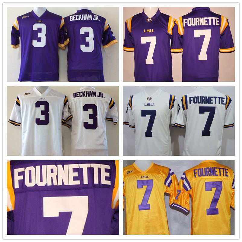 Гаджет  2016 NEW LSU Tigers 7 Leonard Fournette Jersey 3 Odell Beckham JR College Football Jerseys Purple Men Youth Kids White Stitched None Спорт и развлечения
