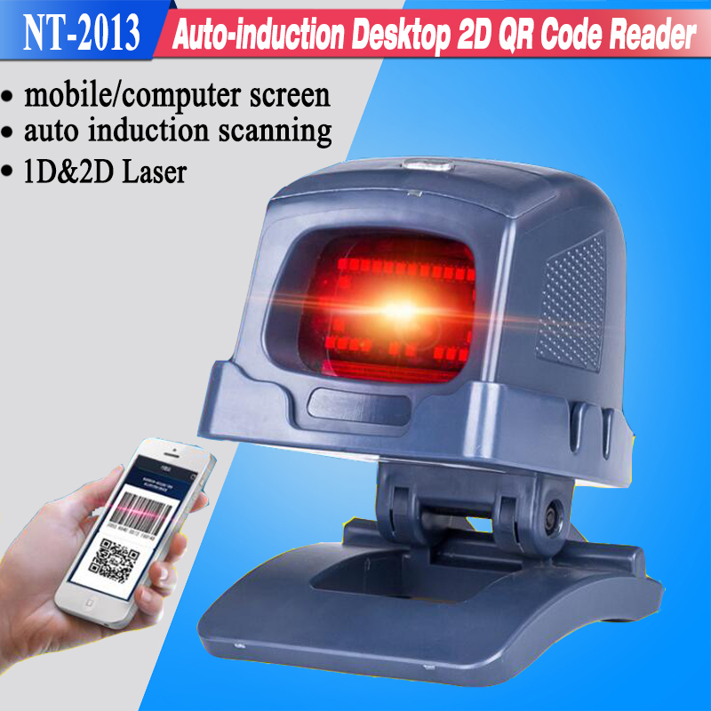 New Auto scanning 2D Laser Desktop Flatbed Barcode Scanner Bar code Reader with USB Interface for Retail Store/Supermarket(China (Mainland))
