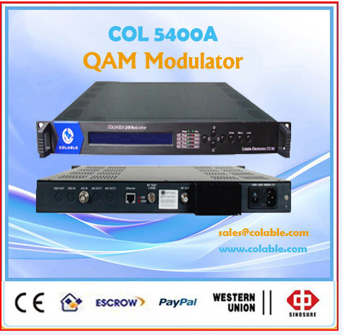 modulator,single channel qam dvb-c modulator ,digital tv headend catv modulator COL5400A(China (Mainland))