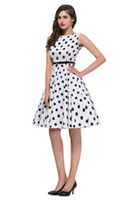 Women Summer Dress 2016 plus size clothing Audrey hepburn Floral robe Retro Swing Casual 50s Vintage Rockabilly Dresses Vestidos(China (Mainland))