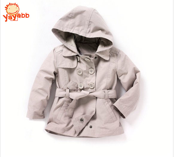 Girls Coats High Quality Jackets For Girls Long Kids Trench Clothing Hooded Manteau Enfant 2-7Y  2015 New Fashion<br><br>Aliexpress