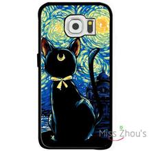 For iphone 4/4s 5/5s 5c SE 6/6s plus ipod touch 4/5/6 back skins mobile cellphone cases cover sailor moon cat starry night