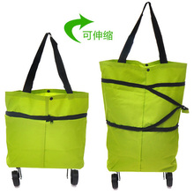 2016 Retail New fashion multifunctional shopping bag foldable bags with roller wheels BG125(China (Mainland))