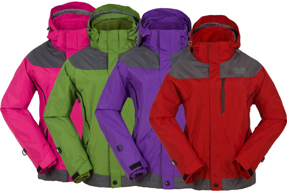 New Fashion Women Hot Sale Outdoor Double Layer 2in1 Waterproof Snowboard Jacket Ladies Climbing Skiing Jackets F1009(China (Mainland))