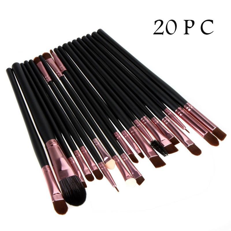 New Professional 20 Pcs Cosmetic Makeup Brush Foundation Eyeshadow Eyeliner Lip Make Up Brushes Set High Quality Golden CCZ057(China (Mainland))