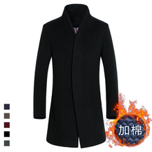 2016 Fashion Spring Style New men's wool coat Fashion Trench Thickening Slim Fit male coat(China (Mainland))