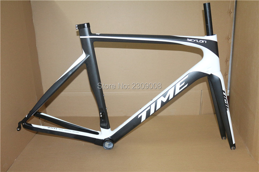 Super light! TIME SKYLON T1000 carbon frameset,carbon road frame,black/white color carbon road bike frame with best price(China (Mainland))