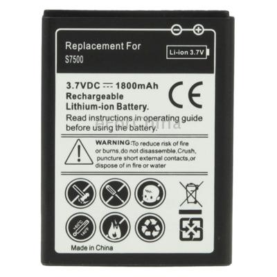 Гаджет  1800mAh Replacement Battery for Samsung Galaxy Ace Plus / S7500 None Электротехническое оборудование и материалы