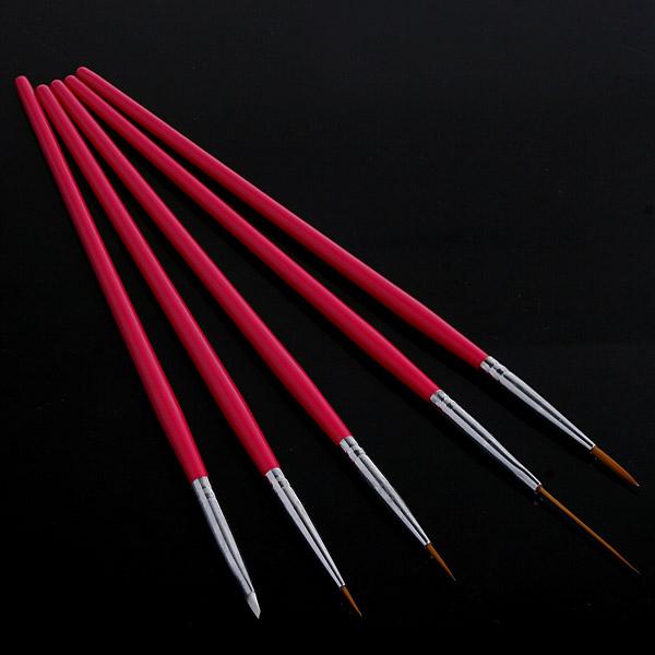 2015 Hot Sale Nail Tools 5Pcs Rose Design Nail Art Pen Painting Dotting Tool Nail Brush Set(China (Mainland))