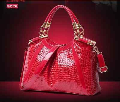 new Women's Ladies Leather Handbag Fashion Bag Crocodile Print Purse(China (Mainland))