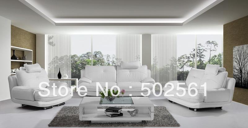 Online kopen wholesale wit lederen bankstel uit china wit lederen bankstel groothandel - Moderne witte kamer ...