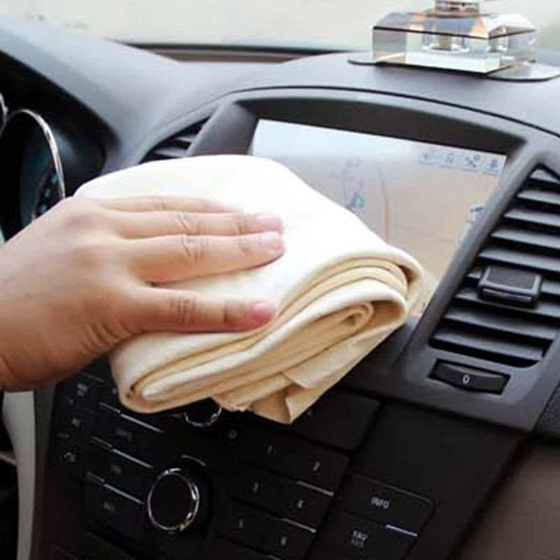 New Natural Chamois Leather Car Cleaning Cloth Washing Suede Towel No Scratches