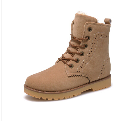Short Brown Combat Boots - Cr Boot