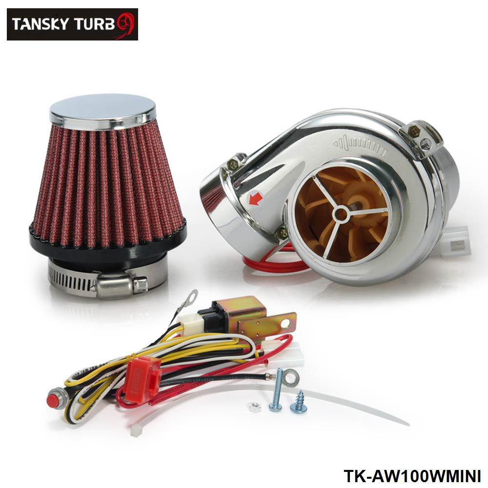 Tansky - Turbo kits Mini Electric Turbo Supercharger Kit Air Filter Intake for all car Motorcycle TK-AW100WMINI(China (Mainland))