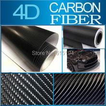 """Carbon Fiber Vinyl Black 4D 30x152CM 11.8""""x60"""" 4D Colored Glossy Carbon Fiber Vinyl Film Auto Wrapping Vinyl Wrap Foil(China (Mainland))"""