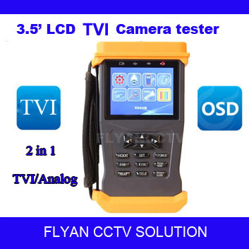 HD TVI Camera Test Video Display PTZ Control 3.5 Inch LCD CCTV Tester and Video Monitor Support analog 960H/ TVI 1080P Camera(China (Mainland))