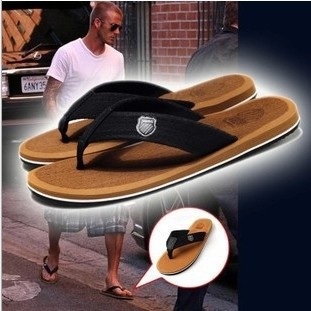 2015 HOT Korean men summer sandals/slippers rubber fashion beach flip flops geometric slippers sandals men 5 color(China (Mainland))