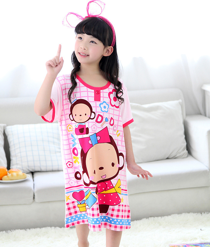 girls nightgowns cotton cute cartoon children's sleepwear nightgown girls princess nightgown cartoon Snow White(China (Mainland))