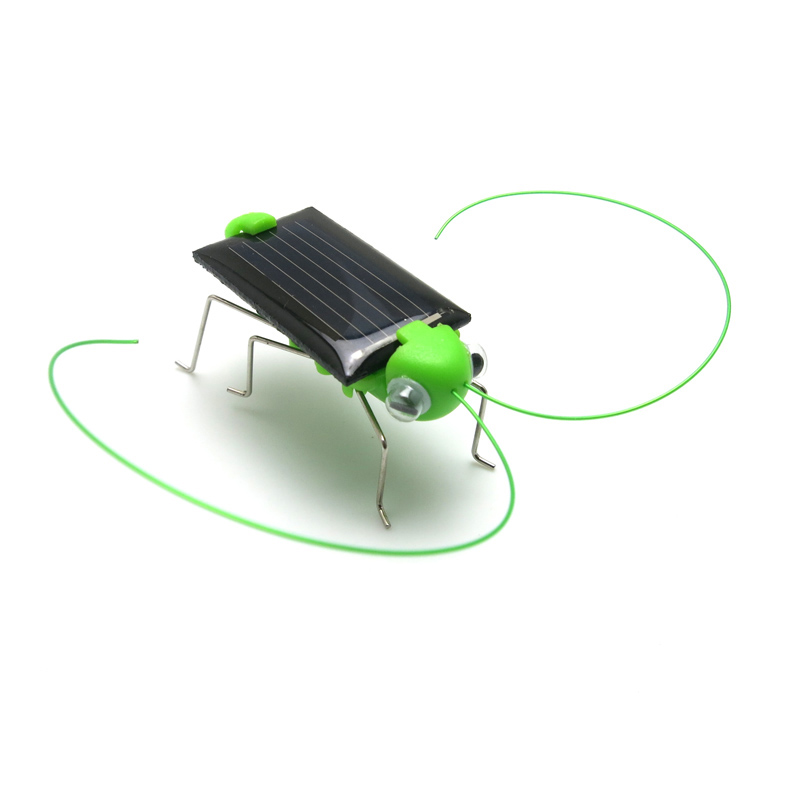 Mini Plastic Solar Power Toy Grasshopper Solar Toy for Kids Children Educational Robot Scary Insect Gadget Trick Novelty Toy(China (Mainland))