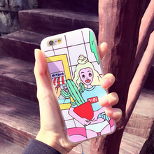 Phone Accessories Korean Style Cactus Pattern Ultra Thin Gel Silicone Soft Mobile Phone Cover For iphone 6 6s Back Case NBC51