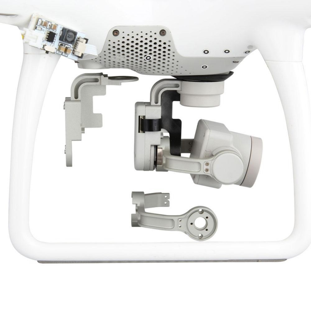 Advanced Pro Gimbal Yaw / Roll Arm Combo Replacement Aluminum Alloy OEM For DJI Phantom 4 White