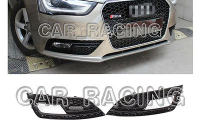 RS4 Style Front Fog Light Cover Lamp Bezel Trim Fit For Audi A4 B9 Non-Sline 2013<br><br>Aliexpress
