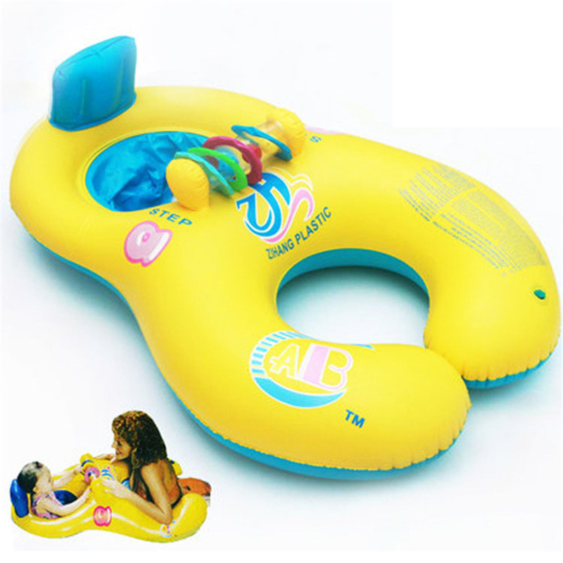 New Arrival Mother/Father And Child Swimming Ring Double Circles Baby Swimming Rings Family Water Floating Chair Board(China (Mainland))