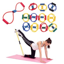 1pcs Resistance Band  Abs Exercise Yoga Pilates Stretch Fitness Tube Workout Bands YKS