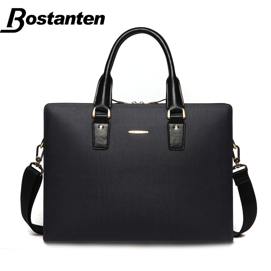 Bostanten New 14 Inch Business Briefcase Laptop Bag Men Split Leather Bags Handbags High Quality Casual Mens Shoulder Bag 2016(China (Mainland))