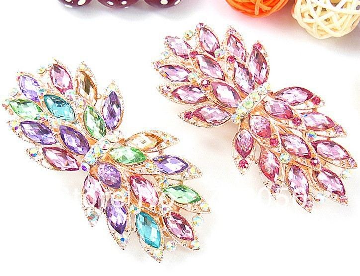 Hair Clips hairgrips Barrettes Rhinestone hair clip clasps clamps gift mixed 25pcs/lot #3029<br><br>Aliexpress