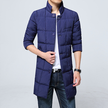 Long Stand Collar Down Solid Small Size XXS Big Size 3XL Gray White Navy Full Sleeve Winter Jackets Mens Jaqueta Masculina(China (Mainland))