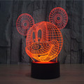 Glowing 7 Color Changing Cartoon Mickey Mouse 3D Acrylic LED Night Light USB LED Decorative Table