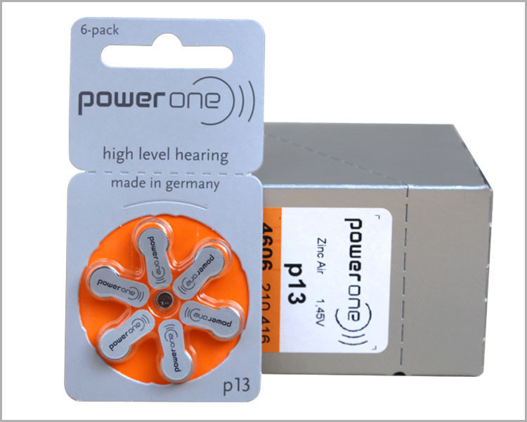 60PCS/Box PowerOne PR48 P13 A13 Zinc air button battery for Hearing aid Free shipping(China (Mainland))