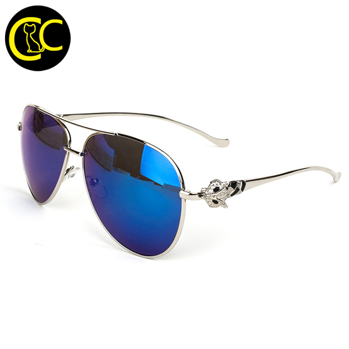 2015 Carter Sunglasses Men Luxury Metal Blue Lens Designer Brand Male New Aviator Sun glasses Italy for Women aviador ray CC0068(China (Mainland))