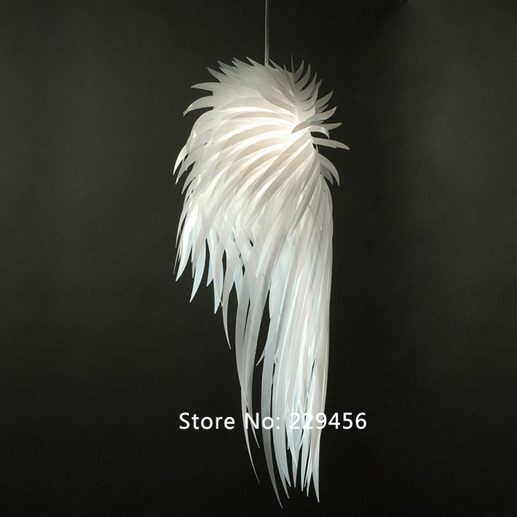 Pendant Light Romantic Angel Wings PVC Feather Icarus Personality IKEA Bedroom Decor E27 110-240V(China (Mainland))