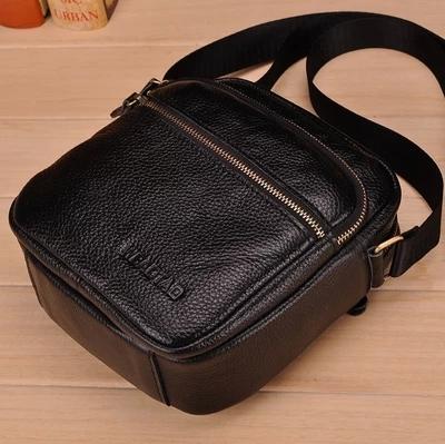 Hot sell genuine leather men bags brand men small messenger bag fashion mini men s shoulder