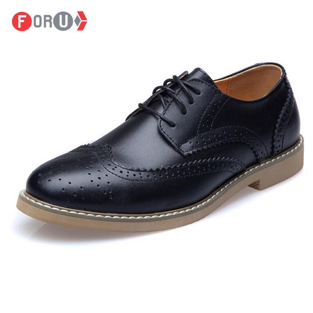 Foru новые 2015 оксфорд обувь для мужчины пу кожаные ботинки британский стиль старинных ...