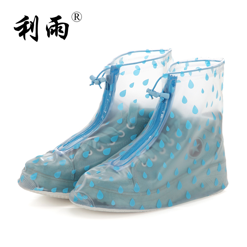 Rain shoes cover female boots thickening fashion waterproof shoes cover slip-resistant rain shoe covers child rain shoe covers<br><br>Aliexpress