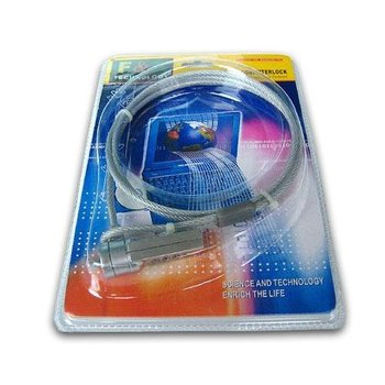 Hot selll free  shipping Laptop Notebook PC Security Password Lock Chain Cable