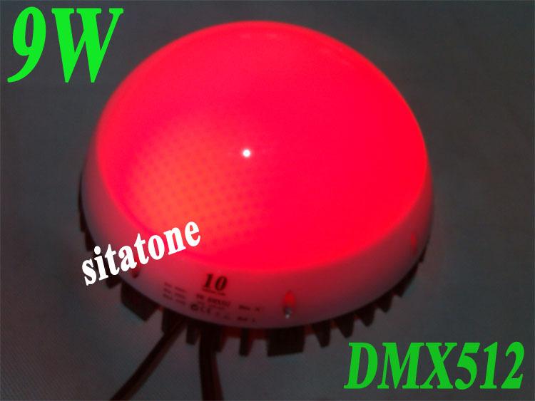 diameter 200mm Free Shipping sale RGB 12V AC86V~265V DMX512  9W Pixel light 9W LED point ligh,2 years warranty,LED buried light(China (Mainland))
